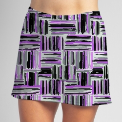 Sporty Skort - Violet Crosshatch