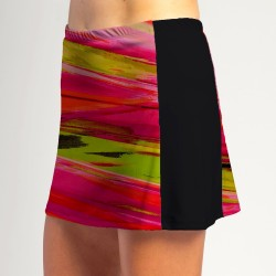 Slimming Panel Skort - Aurora Waves with Black side panels