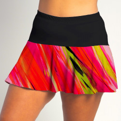 Flounce Skort - Aurora Waves with Black