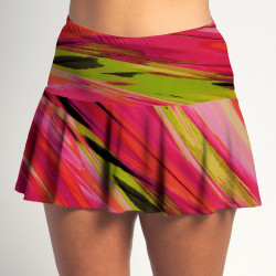 Flounce Skort - Aurora Waves all over print