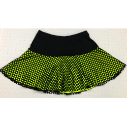 Flounce Skort - Neon under Diamond Mesh
