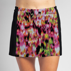 Slimming Panel Skort - Citrus Blast with Black side panels