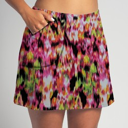 Golf/Walking Zipper Pocket Skort - Citrus Blast
