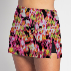 Side Slit Skort - Citrus Blast - Black Shorts