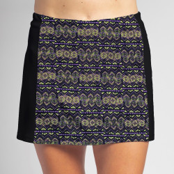 Slimming Panel Skort - Mardi Gras w/Black side panels