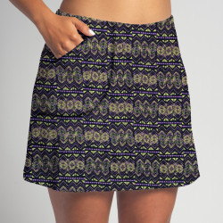 Golf/Walking Zipper Pocket Skort - Mardi Gras