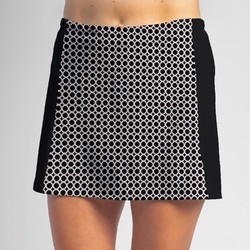 Slimming Panel Skort - BW Circle w/ Black