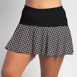 Flounce Skort - BW Circle w/ Black Top