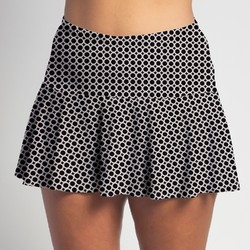 Flounce Skort - BW Circle all over