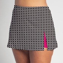 Side Slit Skort - BW Circle - Fuchsia Shorts