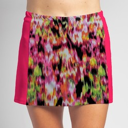 Slimming Panel Skort - Citrus Blast with Pink side panels