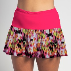 Flounce Skort - Citrus Blast with Pink Top