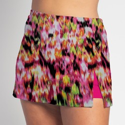 Side Slit Skort - Citrus Blast - Fuchsia Shorts