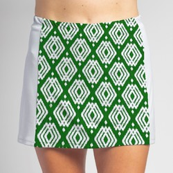 Slimming Panel Skort - Luck o the Green with White