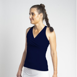 Racerback Top - Navy Solid