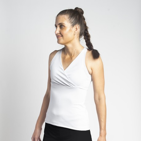 Racerback Top - White Solid
