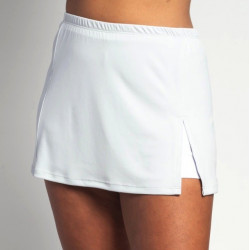 Side Slit Skort - White Solid