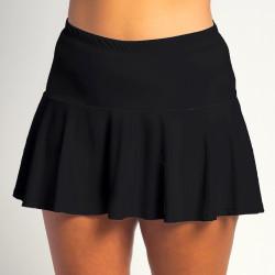 Flounce Skort - Black Solid w/Fuchsia Shorts