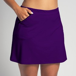 Golf/Walking Zipper Pocket Skort - Grape Purple