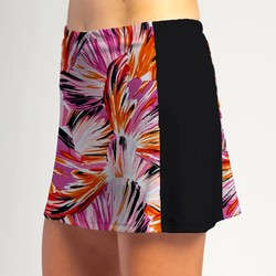 Slimming Panel Skort - Paintbrush Pink with Black side panels