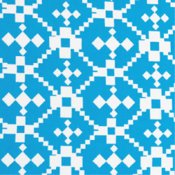 Turquoise Geometric fabric swatch