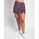 Side Slit Skort - Navy/Pink Abstract Dots w/ Fuchsia Shorts