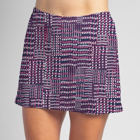 Sporty Skort - Navy/Pink Abstract Dots