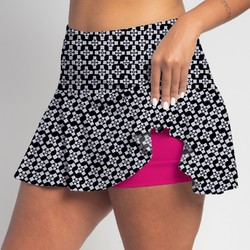 Flounce Skort - Criss Cross all over