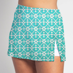Side Slit Skort - Jade Geometric