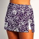 Side Slit Skort - Fight Fight Plum and White - White Shorts