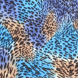 Turquoise Cheetah fabric swatch