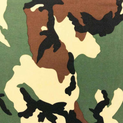 Camouflage fabric swatch