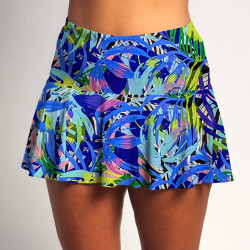 Flounce Skort - Bluegrass with Cobalt