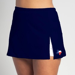 Side Slit Skort - Texas Flag on Navy