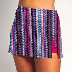 Side Slit Skort - Tread Lightly - Fuchsia Shorts
