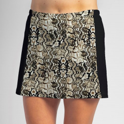 Slimming Panel Skort - Desert Snake with Black