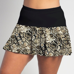 Flounce Skort - Desert Snake with Black