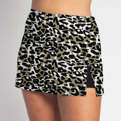 Side Slit Skort - Jaguar - Black Shorts
