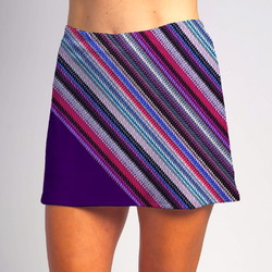 Bias Skort - Tread Lightly w/Grape