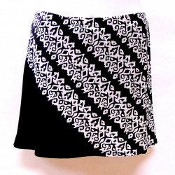Bias Skort - Blk/Ivory Pathways
