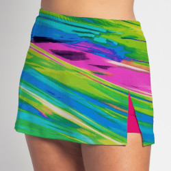 Side Slit Skort - Candy Crush - Fuchsia Shorts