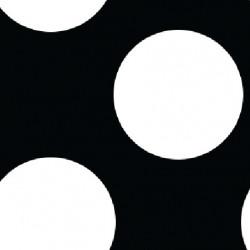BW Polka Dot fabric swatch
