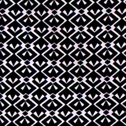 BW Geometric fabric swatch