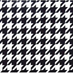 BW Houndstooth fabric swatch