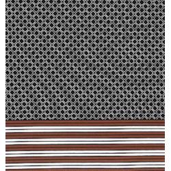 Chestnut Border Print fabric swatch