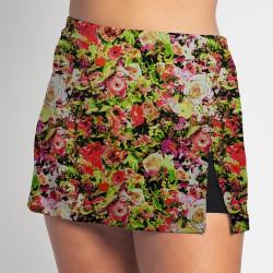 Side Slit Skort - Garden Party - Black Shorts