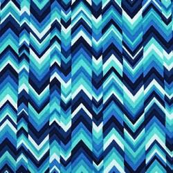 Turquoise Chevron fabric swatch