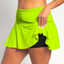 Flounce Skort - Neon all over