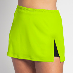 Side Slit Skort - Neon Solid with Black Shorts