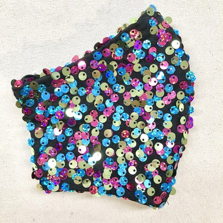Sequins face mask - easy breathe lining